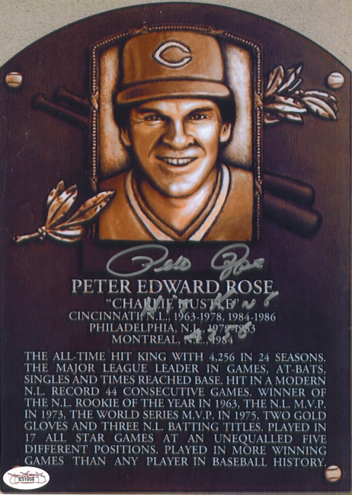 an introduction to the baseball history of pete rose in the hall of fame Pete rose has been selected as the 2017 philadelphia phillies wall of fame inductee, according to ryan lawrence of phillyvoicecom, and will be honored by the team before their aug.