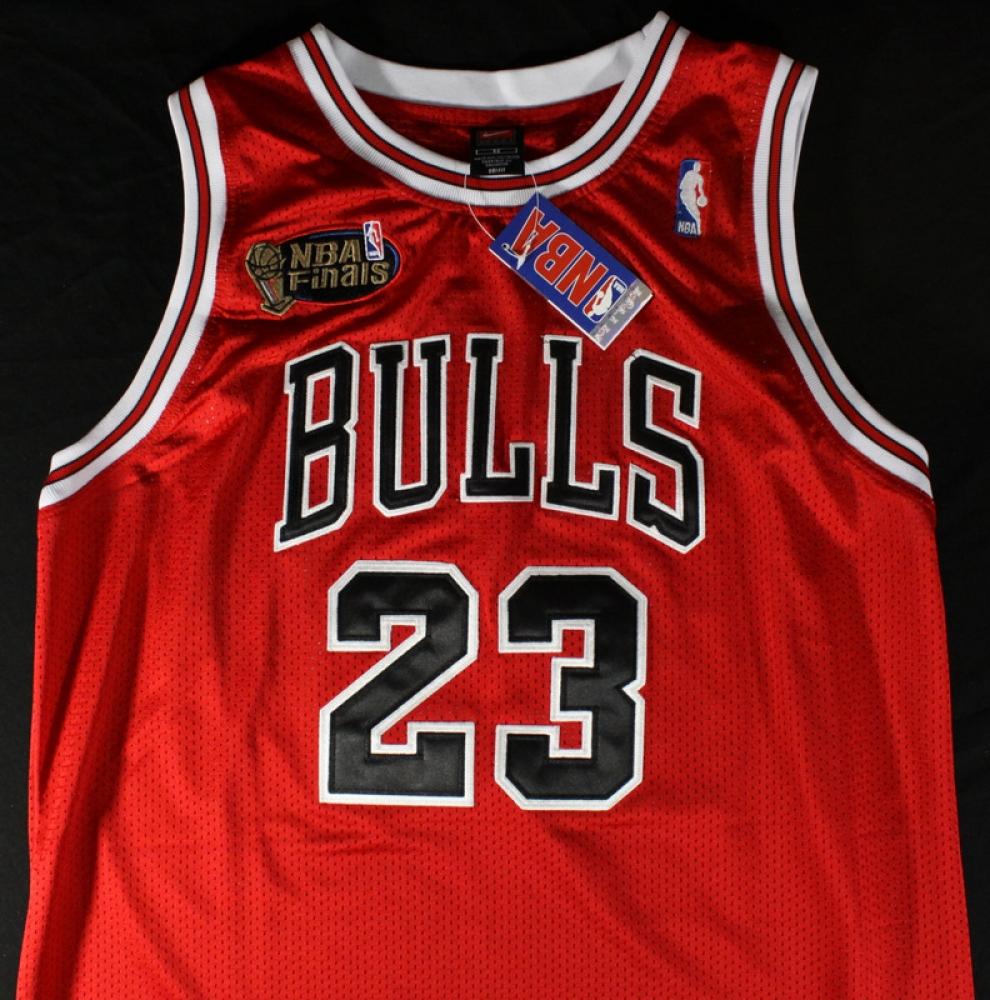 Red Jordan Bulls Jersey Jordan Signed Bulls Jersey