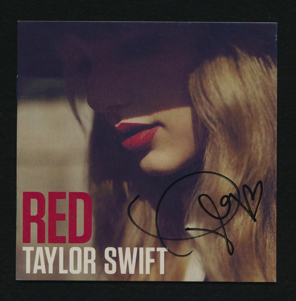 "Taylor Swift Signed ""Red"" CD Cover (JSA COA) at Pristine Auction"