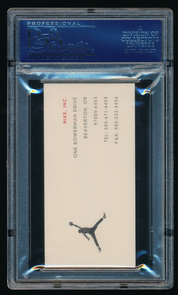 Pristine auction for Nike business card