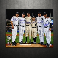 Yankees Final Game At Yankee Stadium Perfect Game Pitchers & Catchers Signed 16x20 Photo at PristineAuction.com