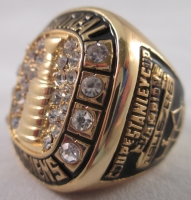 Elmer Lach Montreal Canadiens High Quality Replica 1946 Stanley Cup Championship Ring at PristineAuction.com