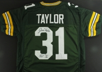 "Jim Taylor Signed Packers Jersey Inscribed ""HOF 76"" (JSA COA) at PristineAuction.com"