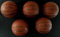 Lot of (5) Kareem Abdul-Jabbar Signed Basketballs (JSA COA) at PristineAuction.com