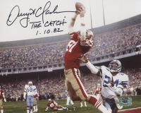 "Dwight Clark Signed 49ers The Catch 8x10 Photo Inscribed ""The Catch 1-10-82"" (Clark Hologram) at PristineAuction.com"