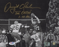 "Dwight Clark Signed 49ers The Catch 8x10 Photo Inscribed ""The Catch 1-10-82"" (PSA COA) at PristineAuction.com"