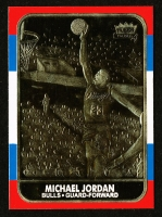 1986-87 Fleer Michael Jordan RC NBA 23K Gold Limited Edition Card at PristineAuction.com