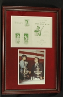 Roger Maris & Wilma Rudolph Signed 17x25 Custom Framed Display (PSA LOA) at PristineAuction.com