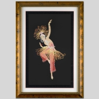 "Erte Signed ""Firebird"" Limited Edition Custom Framed 22.5"" x 36"" Serigraph #295/300 (Framed to 32"" x 45"") at PristineAuction.com"
