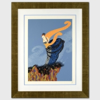"Erte Signed ""Summer Breeze"" Limited Edition Custom Framed 19"" x 26.5"" Serigraph From an AP Edition at PristineAuction.com"