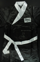 "Roy Jones Jr Signed Everlast Boxing Robe Inscribed ""90's Fighter of The Decade"", ""55-8"" & ""40 KO's"" (PSA COA) at PristineAuction.com"