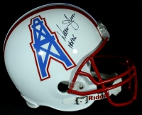 "Warren Moon Signed Oilers Full-Size Helmet Inscribed ""HOF 06"" (JSA COA) at PristineAuction.com"