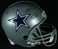Emmitt Smith, Troy Aikman, & Michael Irvin Signed Cowboys Full-Size Helmet (GTSM COA) at PristineAuction.com