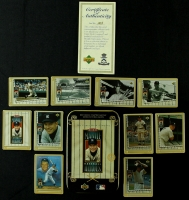 Set of (10) Mickey Mantle 1995 Limited Edition Metallic Impressions Collector Cards in Original Tin (UDA COA) at PristineAuction.com