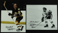 Lot of (2) Rick Middleton Signed & Inscribed Bruins 8x10 Photos (PA LOA) at PristineAuction.com