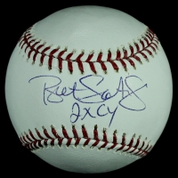 "Bret Saberhagen Signed OML Baseball Inscribed ""2x CY"" (MLB Hologram & TriStar COA) at PristineAuction.com"