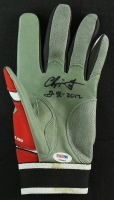 "Chipper Jones Signed Game-Used 2012 Reds Franklin Batting Glove Inscribed ""GU 2012"" (PSA COA) at PristineAuction.com"