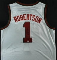 Oscar Robertson Signed Bucks Jersey (PSA COA) at PristineAuction.com