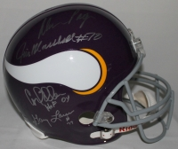 Alan Page, Carl Eller, Jim Marshall & Gary Larsen Signed & Inscribed Vikings Full-Size Helmet (Schwartz COA) at PristineAuction.com