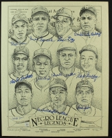 Negro League Legends 16x20 LE Lithograph Signed By (11) with Monte Irvin, Casey Jones, Buck Leonard, Leon Day, Ted Radcliffe (AR COA) at PristineAuction.com