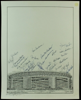 Shea Stadium 16x20 Lithograph Signed By (25) with Al Weis, Cliff Cook, Jim McAndrew, Cal Koonce, Tommie Agee (AR COA) at PristineAuction.com