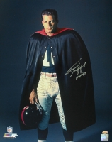 "Frank Gifford Signed Giants 16x20 Photo Inscribed ""HOF 77"" (Leaf COA) at PristineAuction.com"