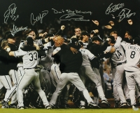 2005 White Sox World Series Celebration 16x20 Photo Team Signed by (6) with with Dye, Podsednik, Contreras, Politte, Blum & Widger (Schwartz COA) at PristineAuction.com