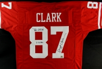 "Dwight Clark Signed 49ers Jersey Inscribed ""The Catch"" & ""1-10-82"" (Clark Hologram) at PristineAuction.com"