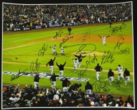 Giants 2012 World Series Celebration 16x20 Photo Team Signed by (15) with Tim Lincecum, Buster Posey, Hunter Pence, Matt Cain, Bruce Bochy (JSA) at PristineAuction.com