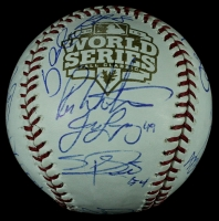 2012 World Series Champion San Francisco Giants Team Baseball Signed by (19) with Buster Posey, Tim Lincecum, Sergio Romo, Pablo Sandoval, Hunter Pence, Bruce Bochy (JSA LOA) at PristineAuction.com