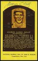 George Kelly Signed Gold HOF Postcard (PA LOA) at PristineAuction.com