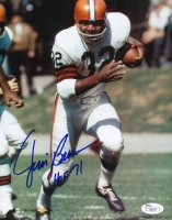 "Jim Brown Signed Browns 8x10 Photo Inscribed ""HOF 71"" (JSA COA) at PristineAuction.com"