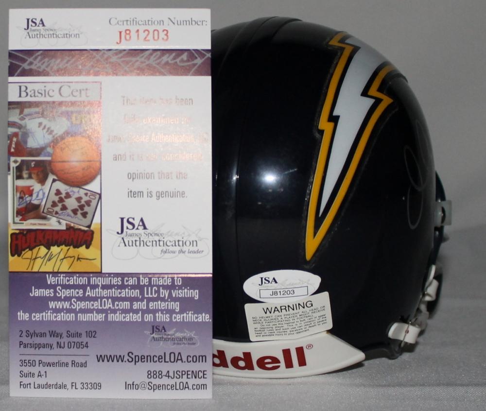 Chargers Mini Helmet Chargers Mini-helmet Jsa