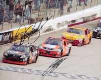Denny Hamlin & Jeff Burton Signed NASCAR 8x10 Photo (PA LOA) at PristineAuction.com