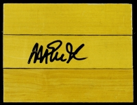 "Magic Johnson Signed 4.5"" x 6"" Piece of Game-Used Forum Floor (PSA COA) at PristineAuction.com"