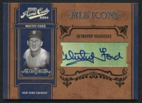 2004 Prime Cuts II MLB Icons Signature Century Silver #75 Whitey Ford #08/25 at PristineAuction.com