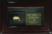 Joe Namath New York Jets High Quality Replica 1968 Super Bowl III Championship Ring in Cherry Wood Display Box at PristineAuction.com