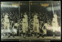 Lot of (3) Mickey Mantle Limited Edition 16x20 30th Anniversary of 500th Home Run Kodak Motion Card from Kodak in Original Portfolio Case (Kodak COA) at PristineAuction.com
