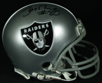 Jerry Rice Signed Raiders Mini-Helmet (Rice Hologram) at PristineAuction.com