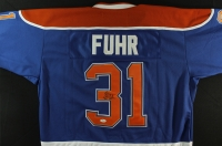 "Grant Fuhr Signed Oilers Jersey Inscribed ""HOF 03"" (JSA COA) at PristineAuction.com"