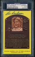 Lou Boudreau Signed Gold HOF Postcard (PSA Encapsulated) at PristineAuction.com