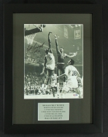 Bill Russell Signed Celtics 13x17 Custom Framed Photo vs Wilt Chamberlain (PSA COA) at PristineAuction.com