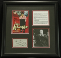 "Roscoe ""Fatty"" Arbuckle Signed 17x18 Custom Framed Display Inscribed ""Sincerely Yours"" & ""Salt Lake City"" (PSA COA) at PristineAuction.com"