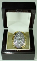 Troy Aikman Dallas Cowboys High Quality Replica 1993 Super Bowl XXVIII Championship Ring with Cherry Wood Display Box at PristineAuction.com