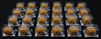 Lot of (24) Mike McCarthy Signed Packers Mini-Helmets (Favre COA) at PristineAuction.com