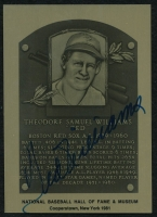 Ted Williams Signed Red Sox 1981 Limited Edition Gold HOF Metallic Plaque Card (PSA LOA) at PristineAuction.com