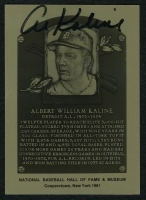 Al Kaline Signed 1981 Limited Edition Gold HOF Metallic Plaque Card (PA LOA) at PristineAuction.com