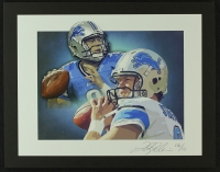 Matthew Stafford Lions Limited Edition Lithograph # 06/10 (PA LOA) at PristineAuction.com