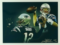 Tom Brady Limited Edition Patriots 12x16 Lithograph # 04/10 (PA LOA) at PristineAuction.com