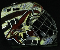 2013-14 Coyotes Team Goalie Mask Signed by (22) with Shane Doan, Mike Smith (PA LOA) at PristineAuction.com